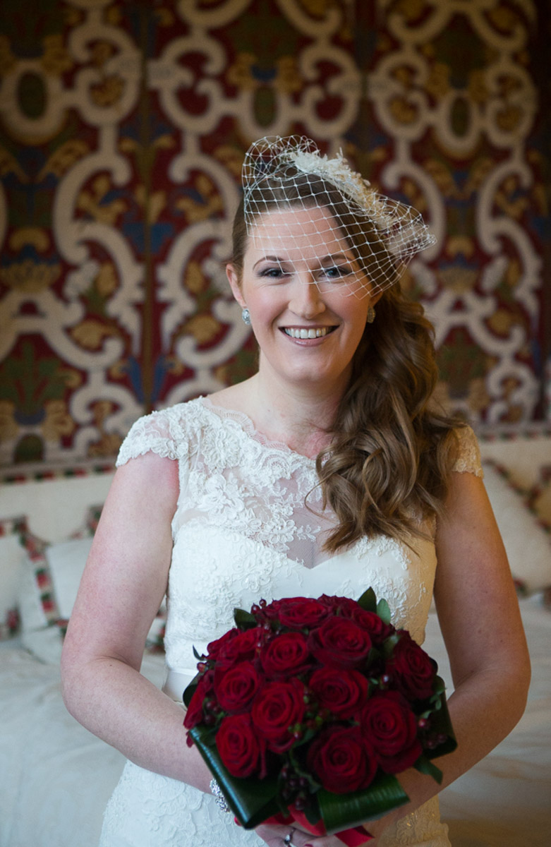 bride hair and makeup at leeds castle, maidstone, kent