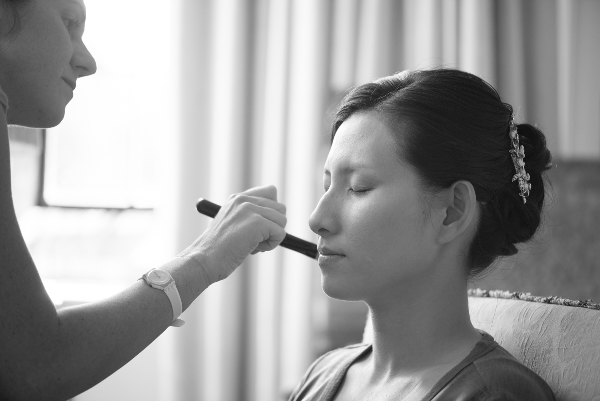 bride hair and makeup at leeds castle maidstone, kent