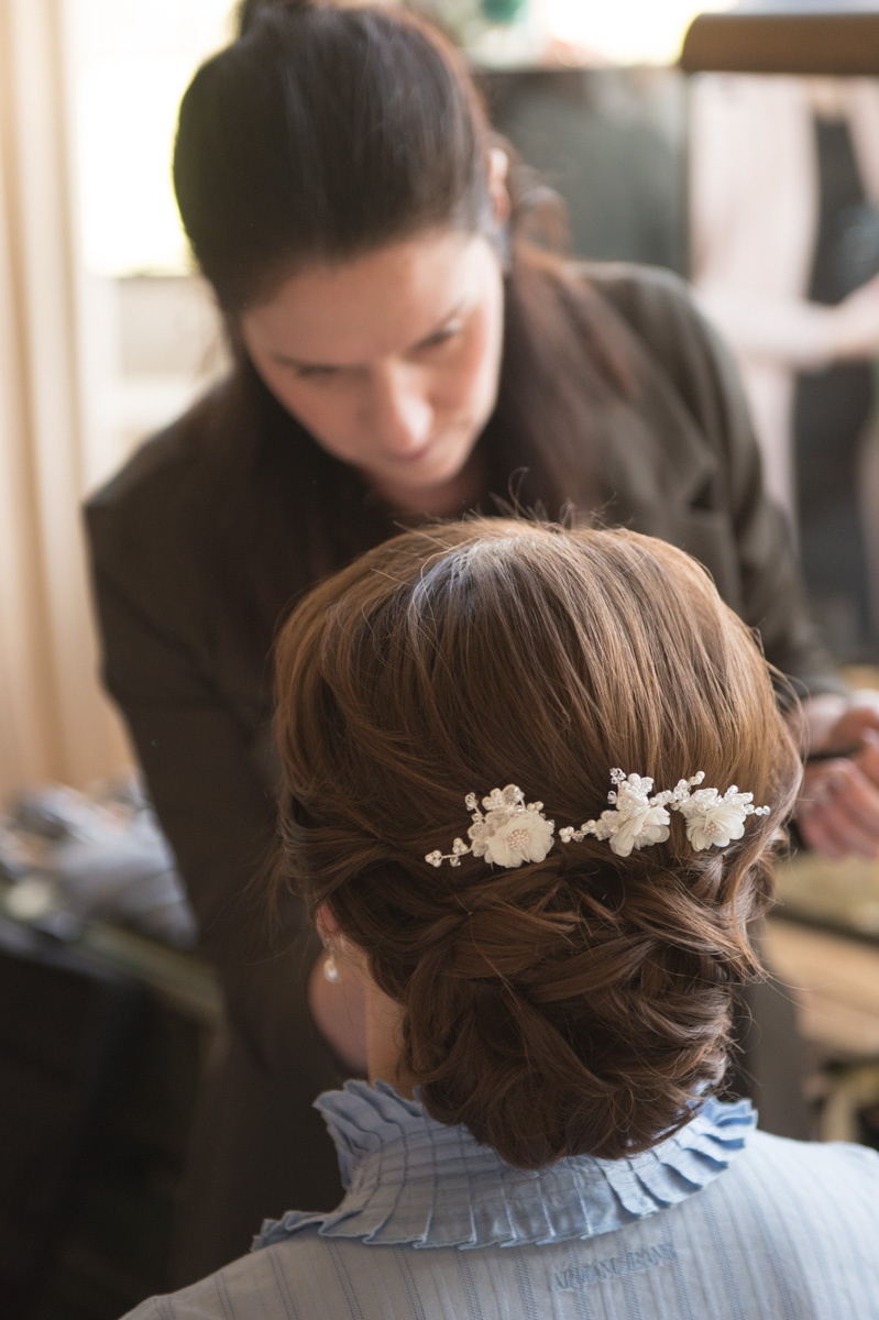 Brides hair and makeup artist at Leeds Castle. maidstone, kent