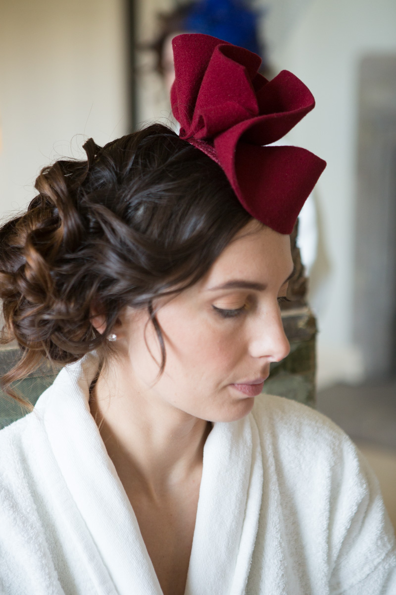 Wedding guest hair at Leeds Castle, maidstone, kent