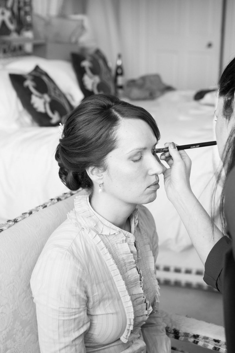 Bride hair and makeup Leeds Castle, maidstone, kent