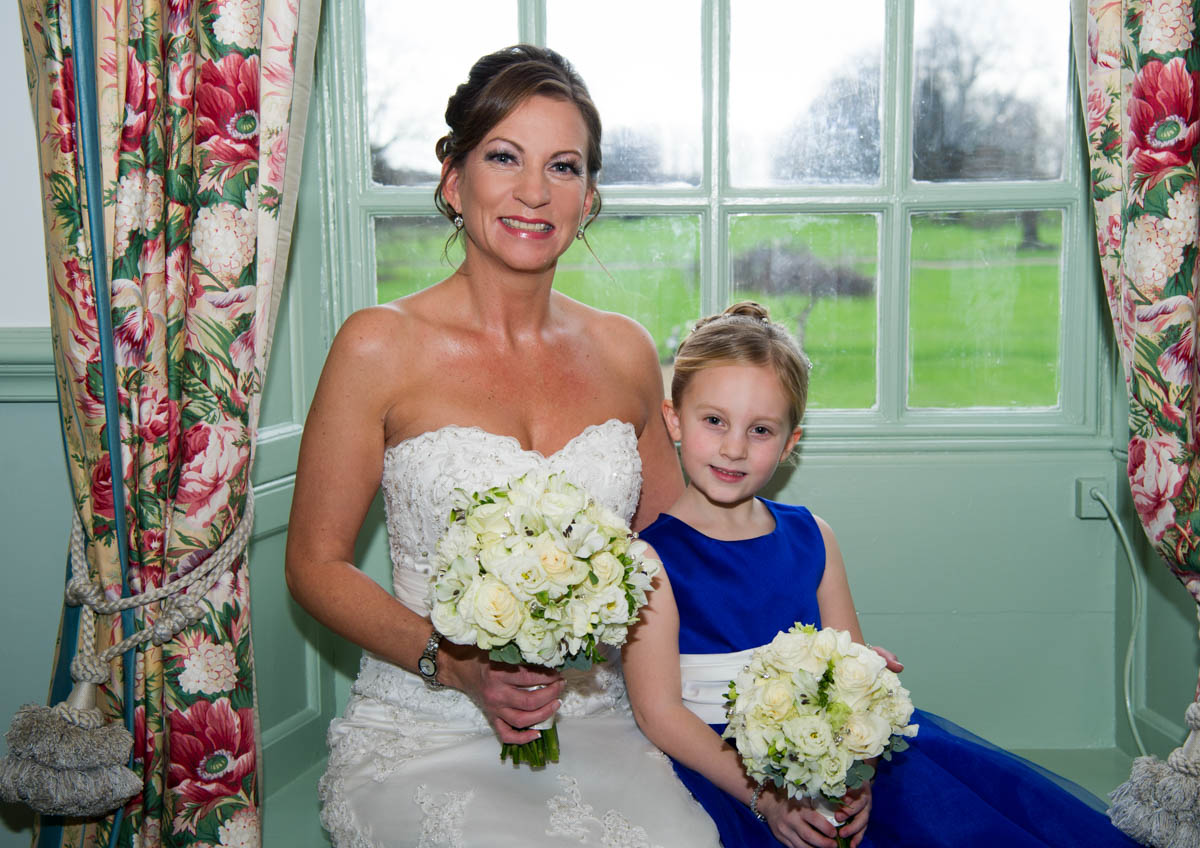 bride with flowergirl hair and makeup chilstern park