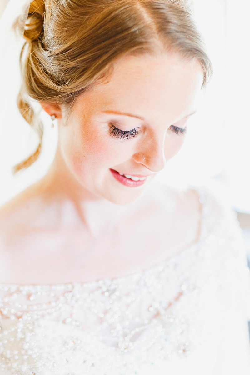 wedding day hair and makeup in guildford