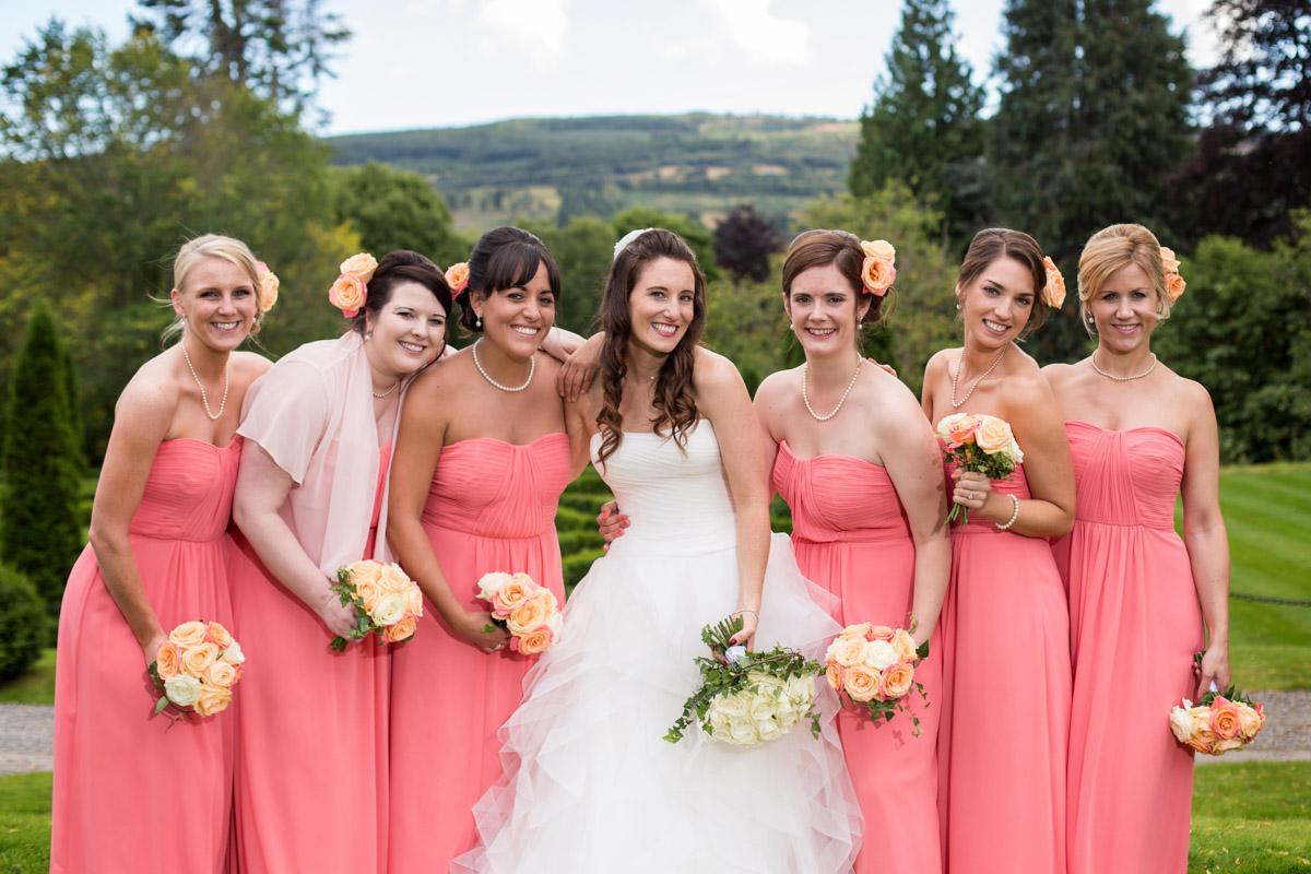 Bride and bridesmaids hair and makeup in Beckenham, kent