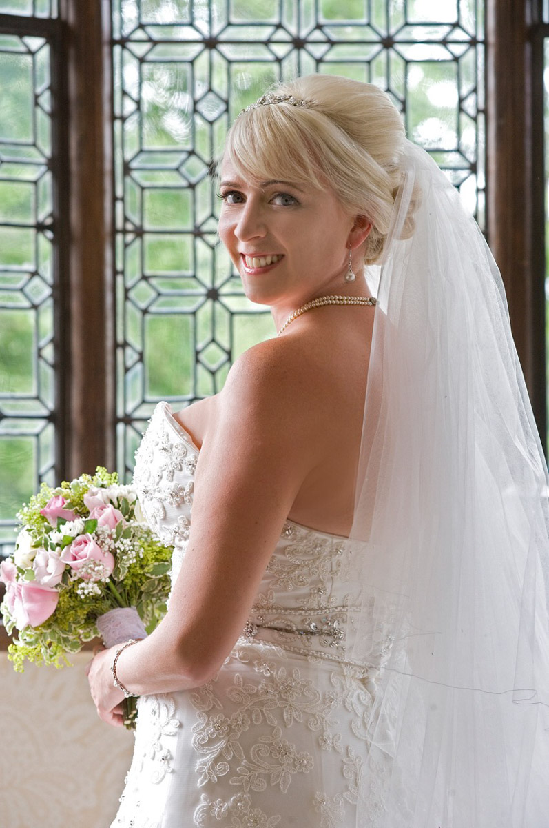Bridal hair and makeup at Hever Castle