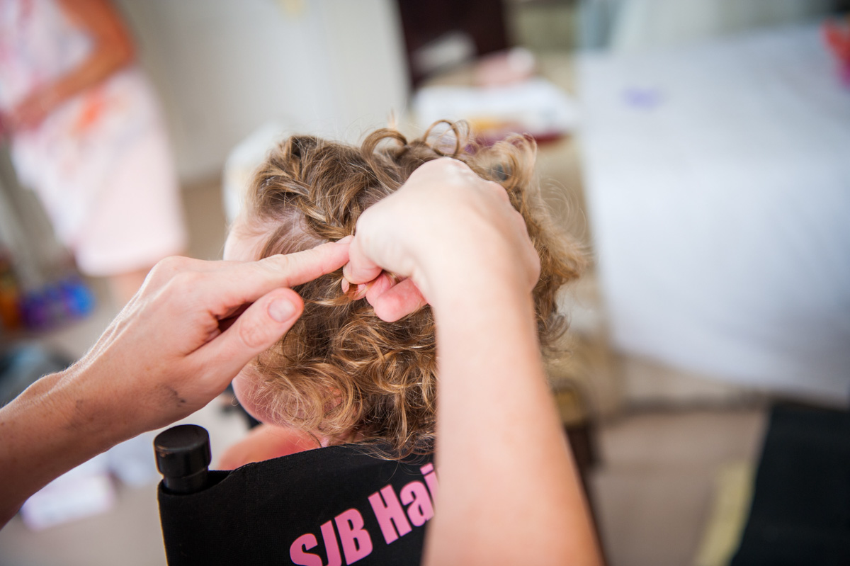 Flowergirl hair, Hadlow Manor in Kent