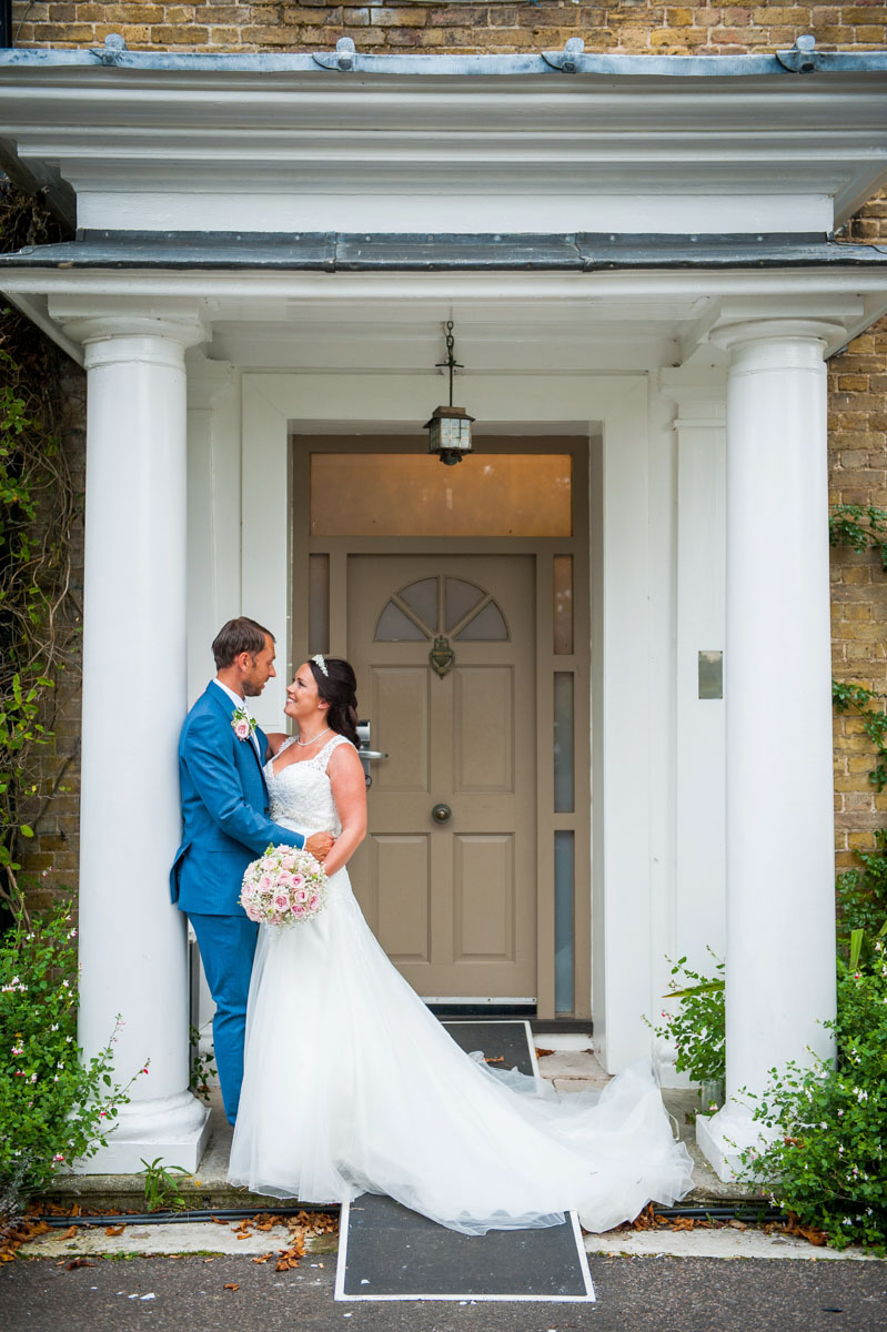 Bride and groom at Hadlow Manor, hair and makeup artist, kent