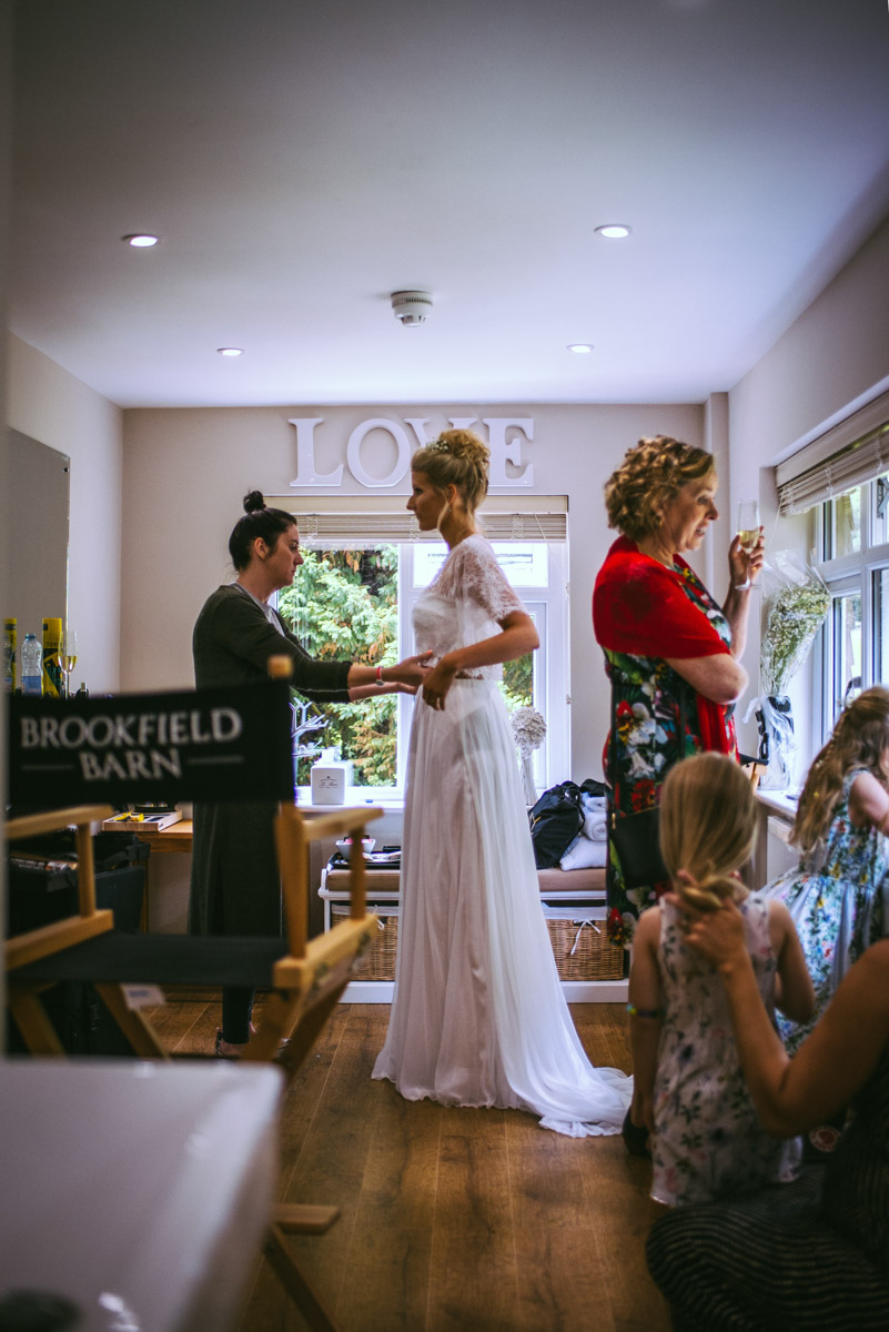 Bride at Brookfield barn, hair andmakeup artist, sussex