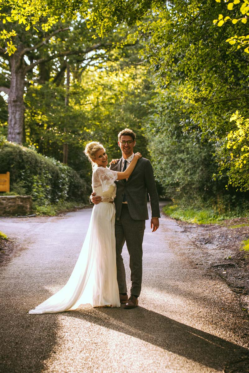 Bride and groom at Brookfield barn, hair and makeup, sussex