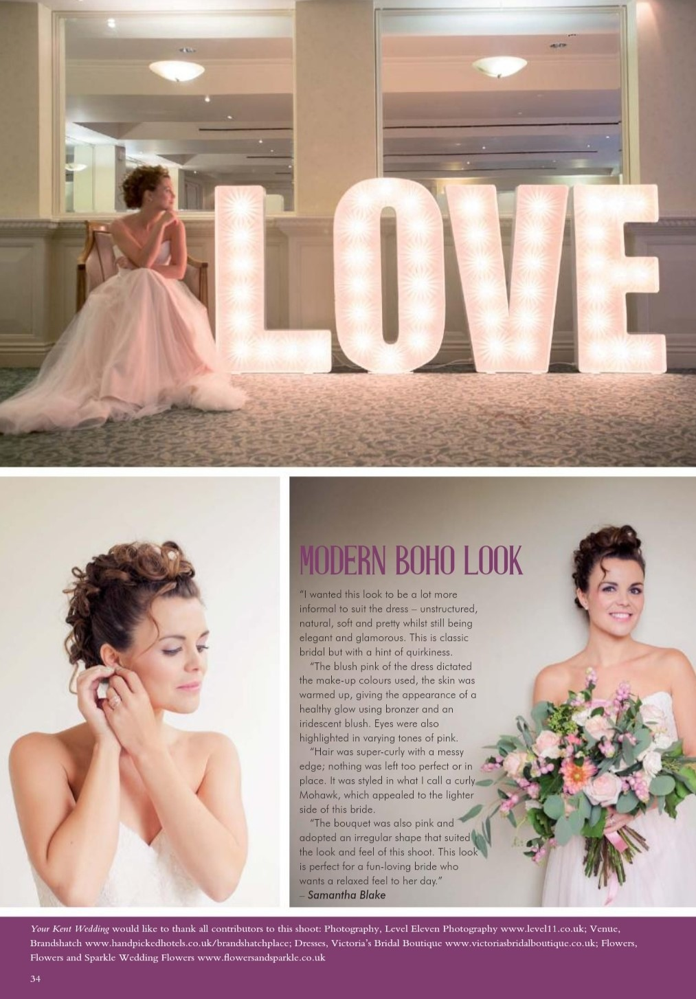 Bride hair and makeup Kent