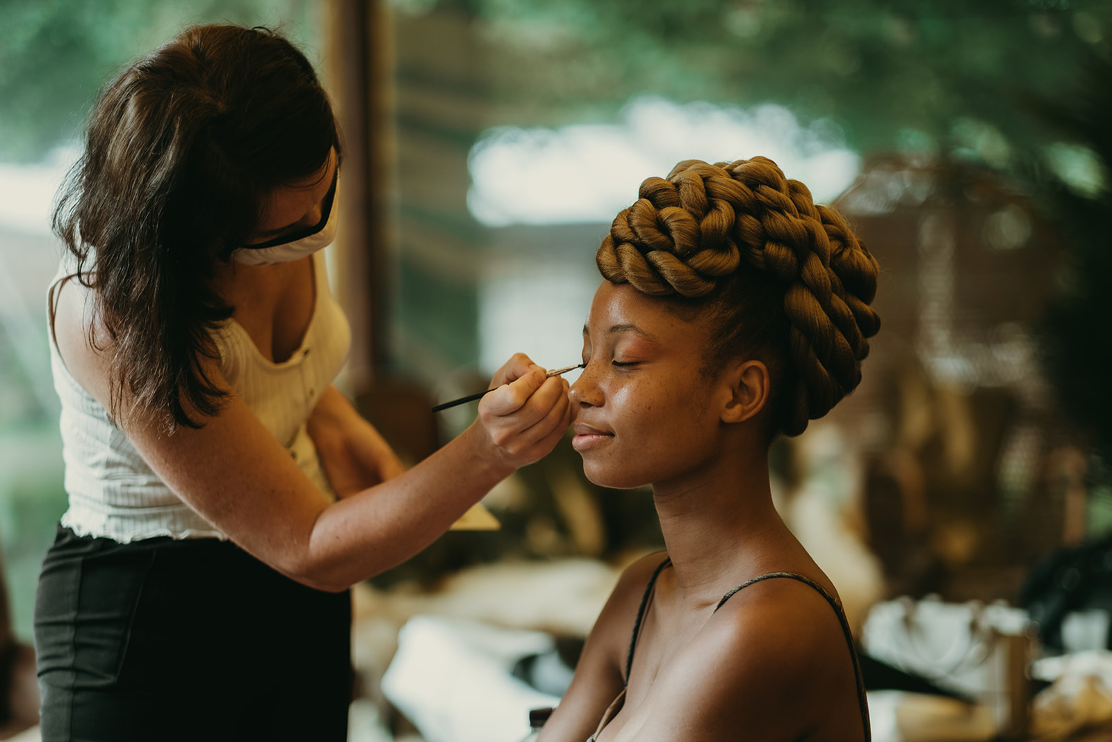 boho hair and  makeup
